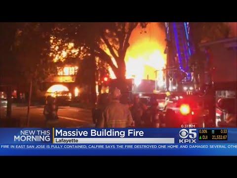 3-Alarm Fire Damages Lafayette Businesses