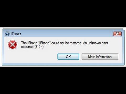 How to fix iTunes Error 3194 for iPhone, iPad & iPod 2017