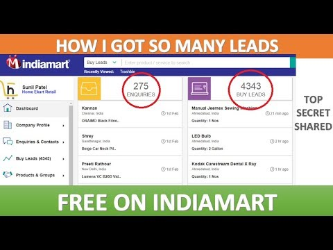 How To Get So Many Free Leads In Indiamart
