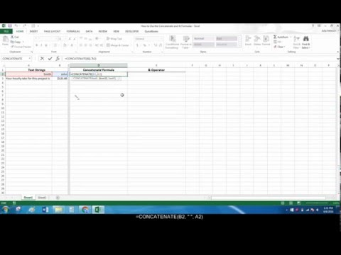 How to Join Text Strings in Excel