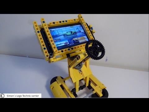 Lego Technic Steering wheel with iPhone 5S [MOC]
