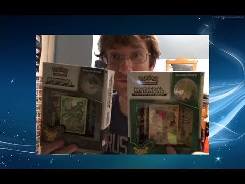 Darkrai and Shaymin Mythical Pokemon TCG Box Opening! || Pokemon Trading Card Game