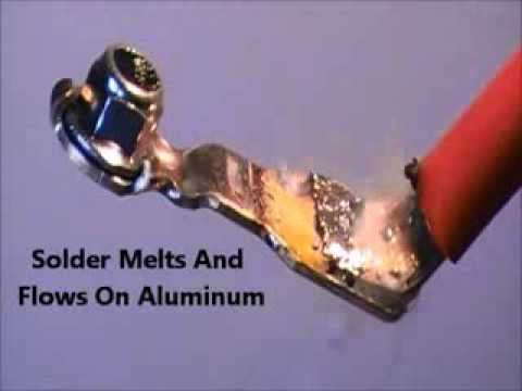 Aluminum Wire to Brass Terminal Soldering with Superior AL27-103-75 Solderpaste