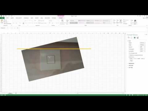 How to Straighten, rotate and crop an image in Excel 2013