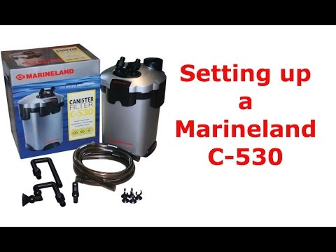 Setting up a Marineland Canister Filter