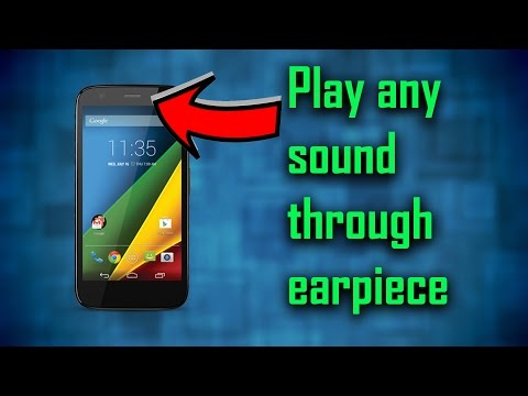 Play Music through earpiece! (android only)