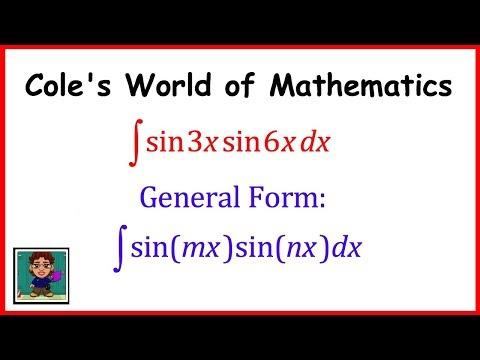 Integral of (sin3x)(sin6x) ❖ Calculus 1 ❖ Integral of (sin mx)(sin nx)