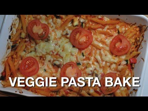 VEGGIE PASTA BAKE - Vegetarian student recipe