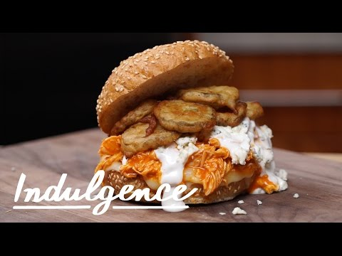 This Buffalo Chicken Sandwich With Ranch Fried Pickles is Truly Dope