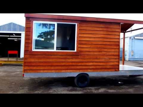 Cedar Wood BBQ Porch Food Trailer
