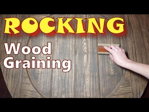 How To Paint Wood Grain Look - Faux Wood Grain Techniques