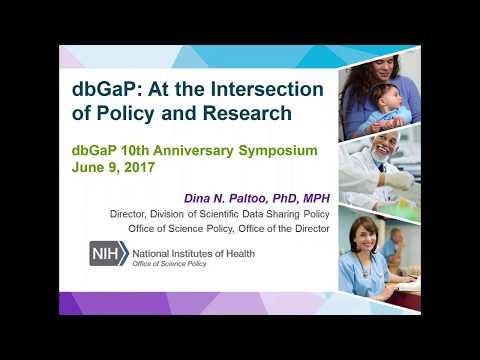 dbGaP Tenth Anniversary: Talk #2, Dina Paltoo
