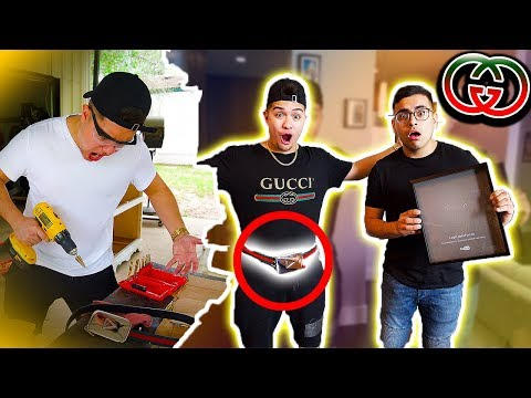 I TURNED MY YOUTUBE PLAYBUTTON INTO A GUCCI BELT!