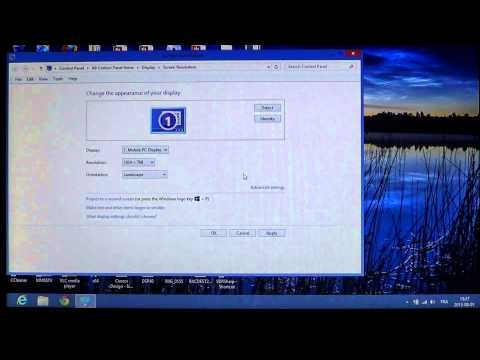Windows 8 How to change screen resolution