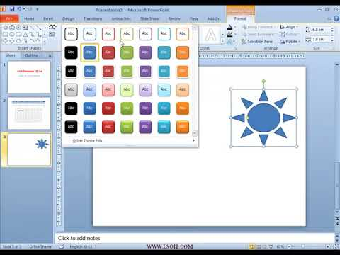 Illustrations Group in Insert Tab Power Point  Video Tutorials in Hindi - LSOIT.COM