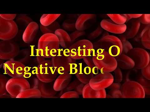 Interesting O Negative Blood Facts