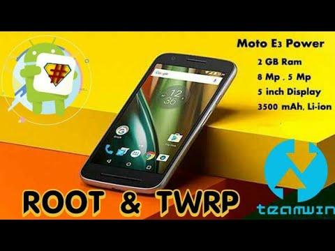 Root dan TWRP moto E3 power