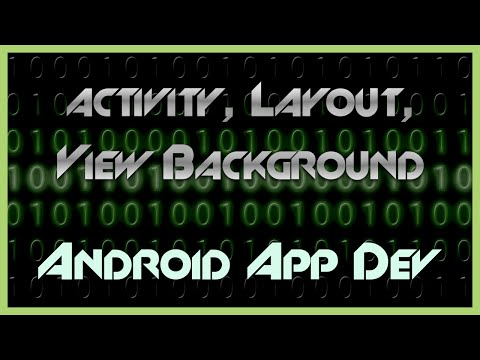 Change Activity, Layout, or View Background in Android Studio App Development Tutorial