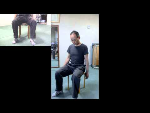 Come to standing from the chair while shaking legs left & right (#Feldenkrais ATM)