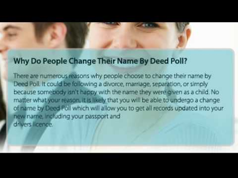 Why Do People Change Their Name By Deed Poll?