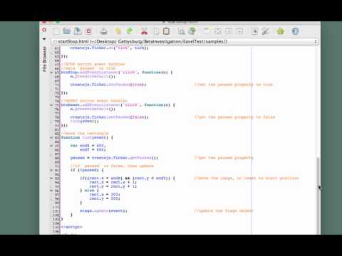 EaselJS - Start, pause, resume a timer