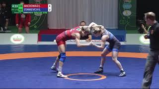 Final 5-6 WW - 50 kg: J. MACDONALD (CAN) v. K. STANKEVICH (BLR)