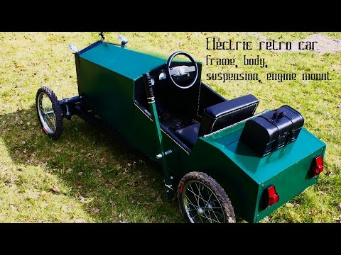 Homemade electric go kart for kids in vintage style - part 2 - frame, body, suspension, engine