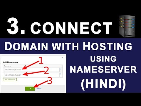 How To Connect Domain Name with Web Hosting using NameServer | DNS Records Explained in HINDI