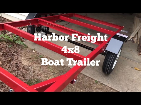 Harbor Freight 4 x 8 Trailer / Boat Trailer