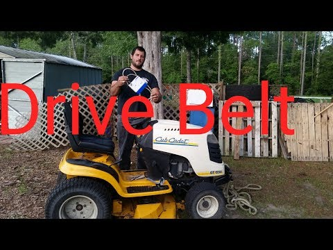How to replace a cub cadet drive belt