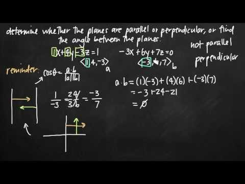Parallel, perpendicular, and angle between planes (KristaKingMath)
