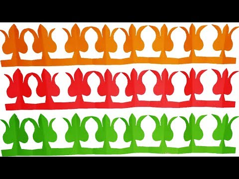 Paper cutting designs#How to make paper cutting borders design Easy-Paper craft for kids.