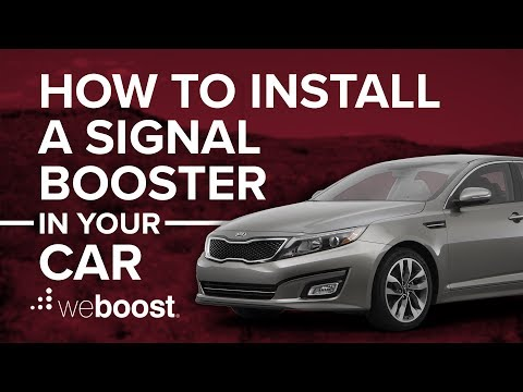 How To Install A Cell Phone Signal Booster In A Car | weBoost