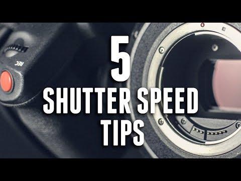 5 SHUTTER SPEED TIPS for VIDEO