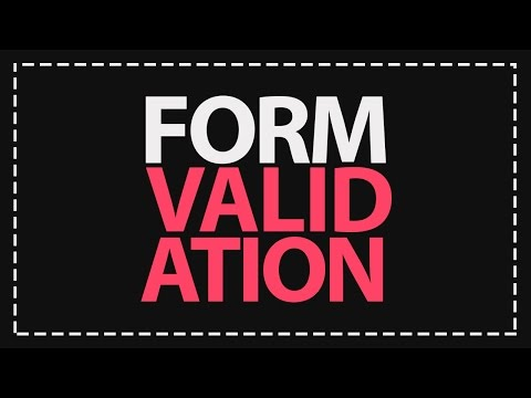 Validating Forms with jQuery! [VOICE TUTORIAL!]