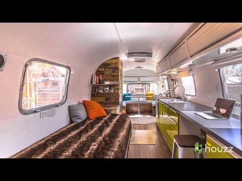 Man Turns '70s Airstream Into a Cool, Happy Home