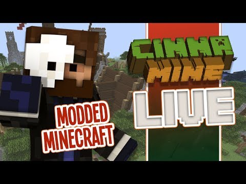 Live Modded Minecraft on Cinnamine SMP with TheFuzzyMole