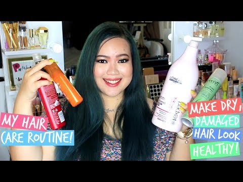 MY HAIR CARE ROUTINE! HOW I MAKE MY DRY, FRIZZY HAIR LOOK HEALTHY! (PHILIPPINES)
