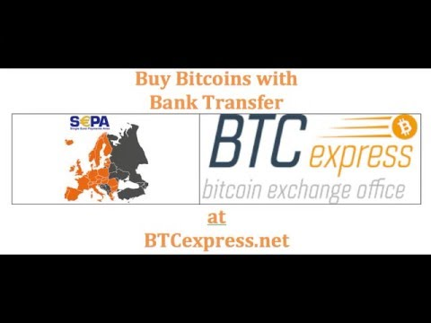 Buy Bitcoins with SEPA Bank transfer