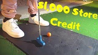 MINI GOLFING WINNER GETS $1,000 STORE CREDIT!!!!
