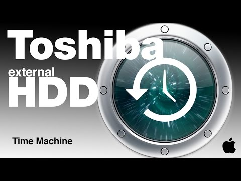 Time Machine and Toshiba external hard Drive Set up how to guide