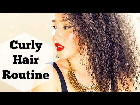 Curly Hair Routine   Best Wash and Go in 10 Steps   Natural Hair