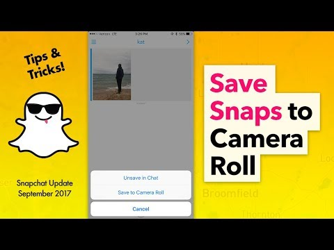 How to Save Snaps to Camera Roll - Snapchat Update 10.16.0.0