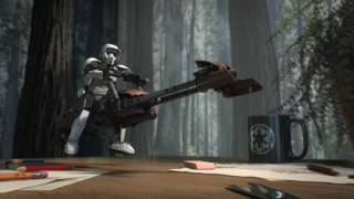 Scout Trooper and Speeder Bike - LEGO Star Wars - 75532 Product Animation