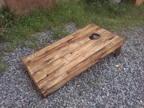 How to Build Cornhole Boards DIY Wood