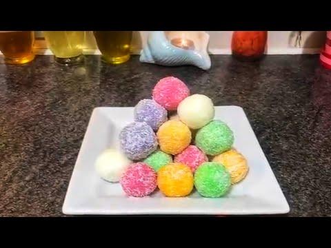 Easy 5 min no cook coconut snowballs easy /laddu recipe ( নারিকেল স্নোবল সহজ রেসেপি)