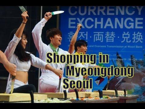 Shopping in Myeongdong (명동) Seoul, Korea with Nanta Performance | Life in Korea