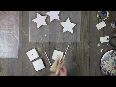 Wooden Glitter Star Stand