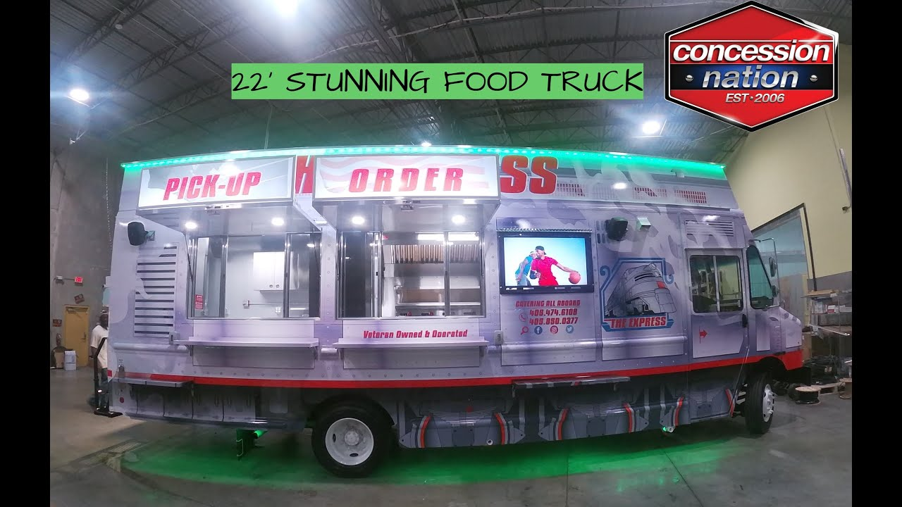 The Express   22' Food Trucks For Sale   Concession Nation
