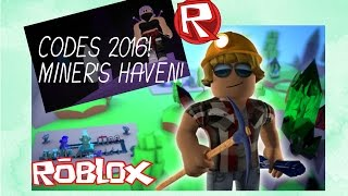JULY 2017 DESCRIPTION) Miner's Haven Exclusive Codes - Roblox